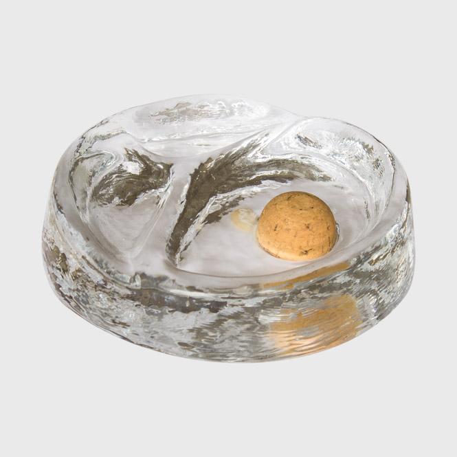 Pfeifenaschenbecher Glas rund